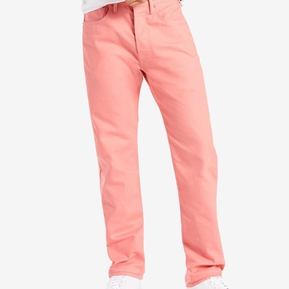 Levi's Other - NWT MENS LEVIS STRAUSS 501 DENIM PINK JEANS 34x32